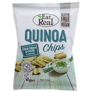 Eat Real Quinoa Cream & Chive Chips - 30g